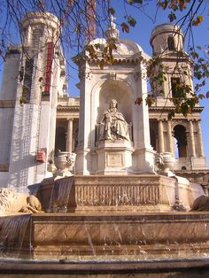 Saint-Sulpice Fountain and Church - #France #Paris - one block from where I lived with Becky S in 1981