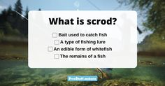 How good is your fishing terminology? Can you tell us what a scrod is? The answer may surprise you! If you know the answer (or have looked it up in the dictionary), select your res