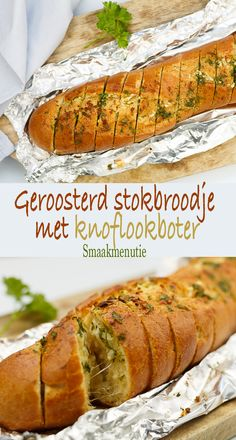 Stokbroodje met knoflookboter Spicy Recipes, Baking Recipes, Ladies Who Lunch, Bread Baking, Sandwiches, Allrecipes, Tapas, Brunch, Food And Drink