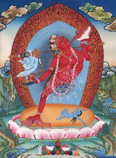 buddhism art - Four Sacred Sites of Vajra Yogini in Nepal Nepal Art, Tibet Art, Tibetan Buddhism, Buddhist Art, Buddha Buddhism, Tantra, Buddhist Practices, Ancient Art, Oriental
