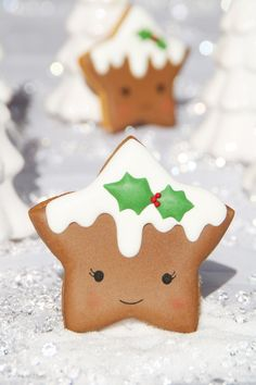 Cookies Christmas Tree Star Ideas For 2019 Christmas Biscuits, Christmas Sugar Cookies, Christmas Sweets, Christmas Cooking, Christmas Goodies, Holiday Cookies, Gingerbread Cookies, Christmas Ideas, Reindeer Cookies