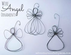 Adventures of a DIY Mom: How to Make a Wire Angel Ornament - {12 Days of CHRISTmas Ornaments}