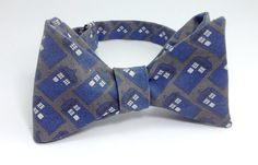 Blue TARDIS Police Box on Grey Doctor Who by SpeicherTieCompany, $25.00 #bowtiesarecool