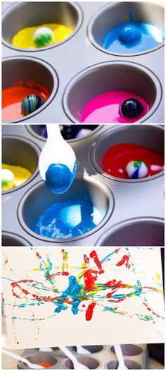 Painting with marbles/ Moonfrye DIY/ Art Crafts/ Paint Crafts/ Crafts for Kids/ Kids Art Projects