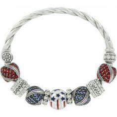 Brighton, how cute!! Create your own patriotic bracelet.