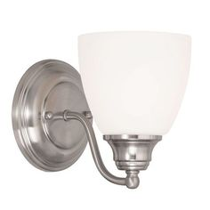 Somerville Brushed Nickel 5.5-Inch One-Light Bath Sconce