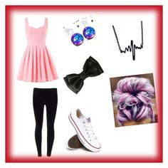 """""""Girly outfit"""" by wolfnerd1 ❤ liked on Polyvore featuring Converse"""