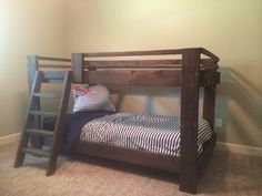 Childs bunk bed by MooreWoodWork on Etsy, $550.00