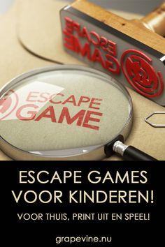 Escape Games en mysteries Hier vindt u spannende Escape games, mysteries en uitdagingen voor kinderen en pubers! #escapegames #escape_games #kinderfeestje #grapevine