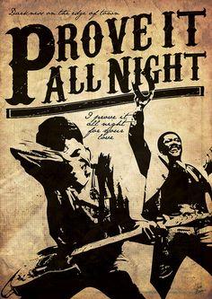 Prove it all night - fan poster rock