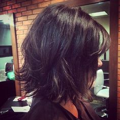 layered bob for thick hair
