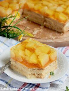 SERNIK KOKOSOWY Z BIAŁĄ CZEKOLADĄ BEZ PIECZENIA Cornbread, Camembert Cheese, Pineapple, Sweets, Fruit, Breakfast, Ethnic Recipes, Food, Cheesecake