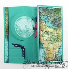 A La Pause: AW-01 - Défi Around the World Stampin'Up! Challenges, World Map, Marie-Josée Trudel