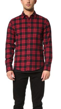 Rag & Bone 3/4 Placket Shirt