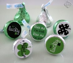 ST. PATRICK'S Day - Candy Stickers