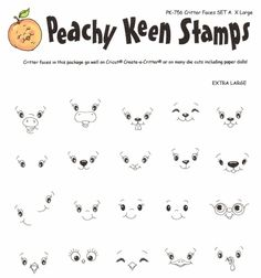 These stamps by Peachy Keen Stamps coordinate with Cricut Create a Critter.