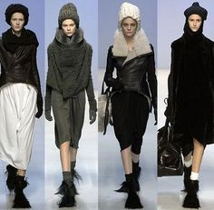 Rick Owens- not for Muffy darling- The 3rd coat takes my breath away.