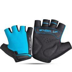 Mens Women Outdoor Mesh Breathable Short Fingerless Non-slip Bicycle Gloves