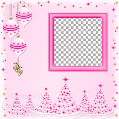 "Layout QP 13A-5 Pink.....Quick Page, Digital Scrapbooking, Christmas Time Collection, 12"" x 12"", 300 dpi, PNG File Format"