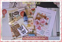"""Scraps of Elegance ~ Create Something Beautiful Today - The June 2013 kit - """"Whimsy"""""""