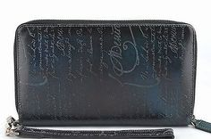 Berluti scritto patina Clutch bag Big purse Wallet 100% Auth From JAPAN