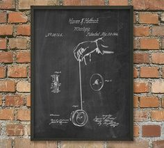 Yoyo Patent Wall Art Poster by QuantumPrints on Etsy
