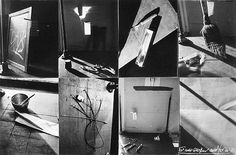 Robert Frank Tools-For my mother and for W.E, 1999-2000 Four gelatin silver prints with eight polaroid negative enlargments each paper, 20x24 inches