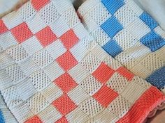 Crochet Tunecino: Manta de Bebe # 2