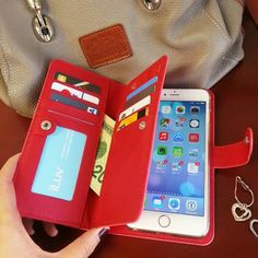 Leather Wallet Case for iPhone 6 Plus by iLuv #Case, #IPhone, #Leather, #Wallet