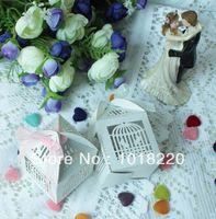 25 X Marfim Pássaro Na Gaiola escavar Charme favor do casamento doces partido jóias de doces