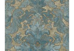 Mustertapeten - Mustertapete A.S. Création Tapete Bohemian Burlesque Blau, Braun, Grün