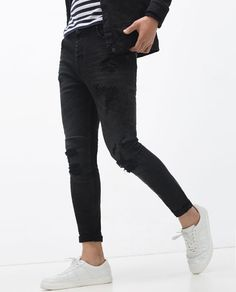 MX1 Jean Med Indigo / Black Leather | Fashion Interests ...