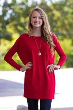 The Perfect Piko Tunic Top-Red – The Simply Dixie Boutique