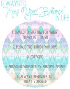 La Petite Fashionista: 5 Ways to Keep Your Balance in Life