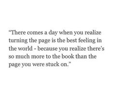 You are the one who needs to turn the page don't expect someone to help you