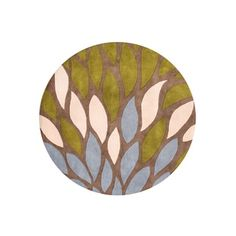 Shop for Alliyah 'A Colorful Palette' Flower Petals Tobacco Brown Organic Round Wool Rug (6'). Get free shipping at Overstock.com - Your Online Home Decor Outlet Store! Get 5% in rewards with Club O!