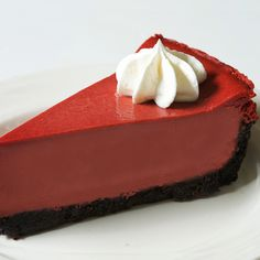 This is Mikes version of red velvet but in cheesecake form. This stellar and unique dessert showcases a crumbly chocolatey crust and smooth cheesecake top. It is handmade with so much love you can taste it. Unique Desserts, Just Desserts, Delicious Desserts, Yummy Food, Dessert Drinks, Dessert Recipes, Chocolates, Red Velvet Cheesecake, Velvet Cake