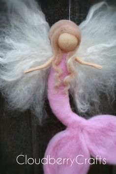 Mermaid Fairy Mobile Guardian AngelHanging por CloudBerryCrafts