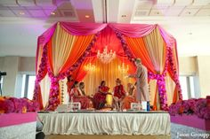 The indian wedding ceremony where traditional rituals and customs are performed.