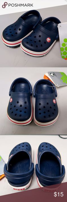 NWT Kids Crocband Crocs New with tags Kids size 4 Crocband Clogs, never worn before!  Bundle with other kids crocs for a discount, open to offers! CROCS Shoes