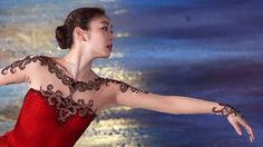 Yuna Kim All That Skate 2014, - Red Figure Skating / Ice Skating dress inspiration for Sk8 Gr8 Designs.