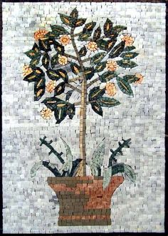 """20x28"""" Blossomed Tree Marble Mosaic Art Tile Wall Mural by Mozaico. $280.00. Mosaics have endless uses and infinite possibilities! They can be used indoors or outdoors, be part of your kitchen, decorate your bathroom and the bottom of your pools, cover walls and ceilings, or serve as frames for mirrors and paintings."""
