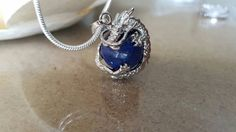 Dragon Necklace Lapis Lazuli Jewelry Game of by Poshracrafts