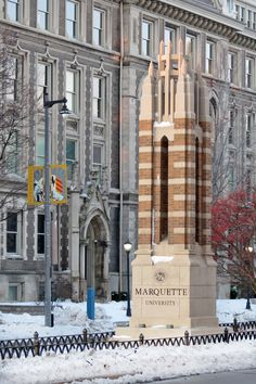 postmarq: Postcards from Marquette University Marquette University, Wisconsin, Postcards, Winter, Winter Time, Winter Fashion, Greeting Card