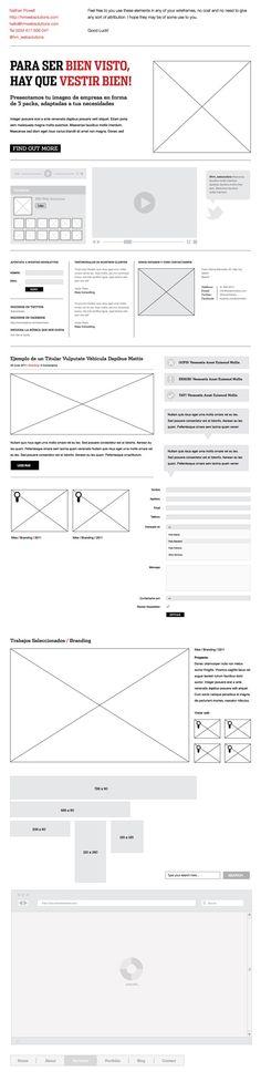 Adobe Illustrator Wireframe Elements - Free
