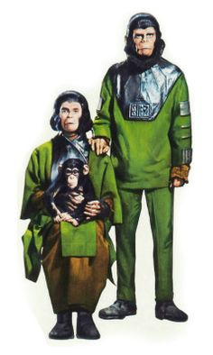 Zira (Kim Hunter), Baby Milo and Cornelius (Roddy McDowall) - Escape from the Planet of the Apes Science Fiction, Fiction Movies, Classic Sci Fi, Classic Movies, Apocalyptic Movies, Sci Fi Horror Movies, Comics Toons, Three's Company, Saga