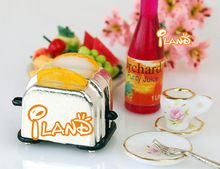 iland 1:12 Dollhouse Miniature Bread Toaster Kitchen Dinnerware(China (Mainland))
