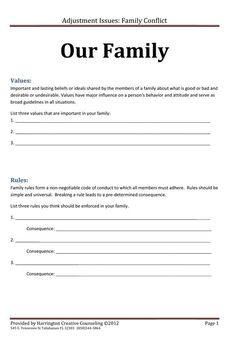 Family Rules and Values: