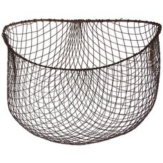wire basket to locate with or without handles Vintage Wire Baskets, Kitchen Baskets, Bird Cages, Wire Art, Decorative Accessories, Primitive, Decorative Bowls, Seafood, Creations