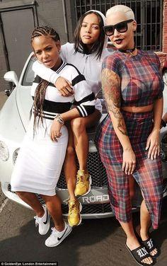 Image via We Heart It #AmberRose #christinamilian #fashion #karuechetran